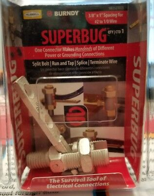 Burndy Superbug Split Bolt New