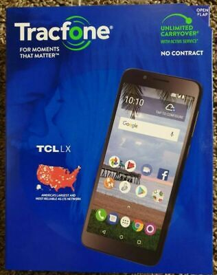 """New Tracfone TCL LX 4G LTE Prepaid Cell Phone 5.3"""" 16GB 8MP"""
