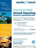 Grand Opening Marlin Travel Whitby