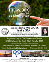 ONE Day Retreat: THE WORK of Byron Katie as Meditation OCT 21