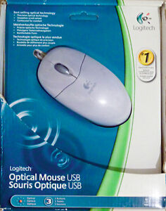 *NEW* Logitech White Optical Mouse-Contoured-Comfortable-Smooth