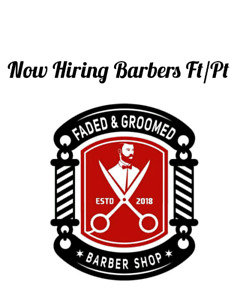 Hiring barber ft/pt or chair rental/room rental