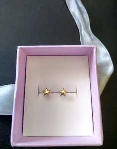 gold & sliver earrings for kids (2 pairs)