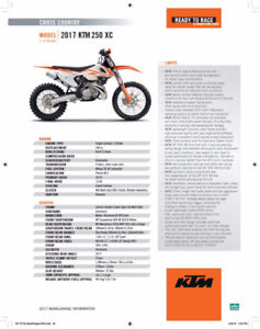 DIRT BIKE FOR SALE!! KTM 2017 250 XC