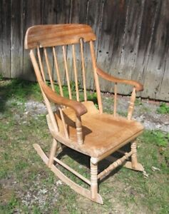 CHAISE BERCANTE ANTIQUE ROCKING CHAIR..c.1890