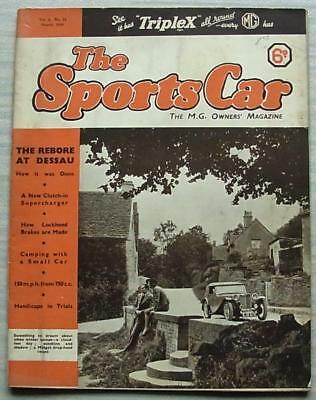 The SPORTS CAR MG Owners House Magazine Aug 1939