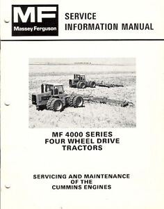 MF 4000 series Cummins manual