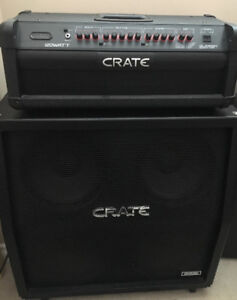 Crate GLX1200H and Crate 4X12 celestion speaker cab slant stack