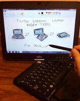 """Fujitsu LifeBook TH700 12.1"""" Tablet Touch screen Laptop w extras"""