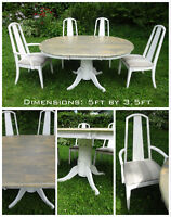 Completely refinished dining set