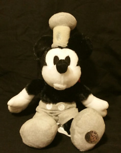 "Steamboat Willie Bean Bag Plush 9"" Limited Edition"