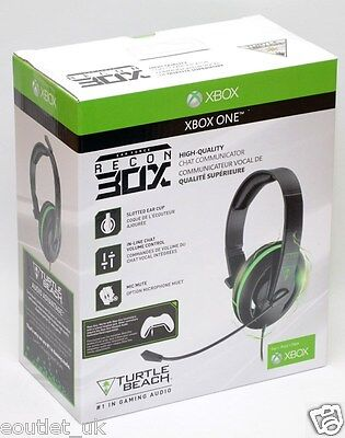 Turtle Beach Ear Force Recon 30x Chat Communicator Headset For Xbox One New