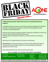 BLACK FRIDAY- PERSONAL LOAN SPECIALS
