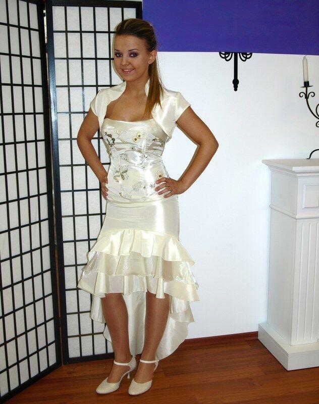 Hochzeitskleid Brautkleid Hochzeit Braut Corsage Kleid Standesamtkleid Pailetten