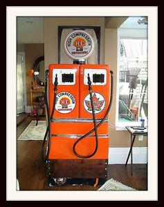 Vinatge Bennett Double Gas pump