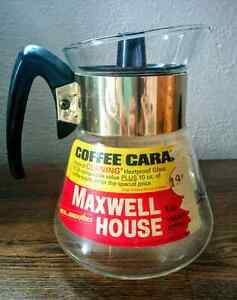 MAXWELL HOUSE Instant COFFEE GLASS Pot ORIGINAL Label ATOMIC Kitchener / Waterloo Kitchener Area image 1
