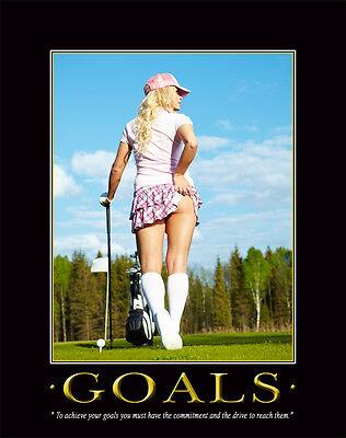 Golfing Art Print Motivational Poster Office Decor Golf Clubs Balls Gifts MVP55  (Decorative Golf)