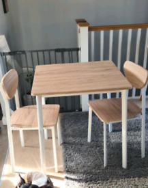 Table and matching chairs