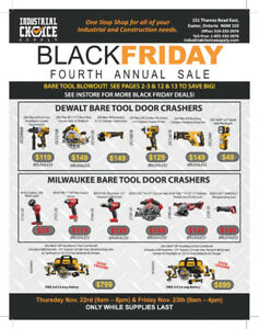 BLACK FRIDAY SALE AT INDUSTRIAL CHOICE SUPPLY