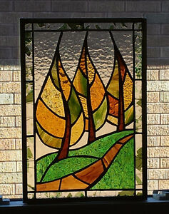 Stained glass trees panel London Ontario image 1