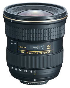 Tokina 11-16mm f/2.8 AT-X116 Pro DX II Digital Zoom Lens Nikon
