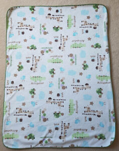 Baby Blanket with Animal Print