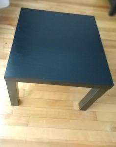 Table d'appoint ikea LACK, carrée, brun/noir
