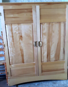 modern 2 door maple wardrobe
