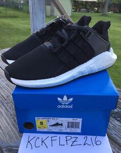 Adidas EQT Support Boost 93/17 Core Black Men's Size 8