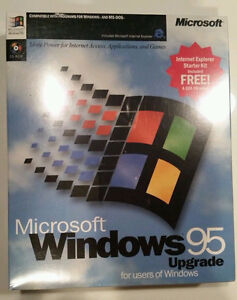 Microsoft Windows 95 Upgrade In Retail Box - NEW & SEALED - $20.