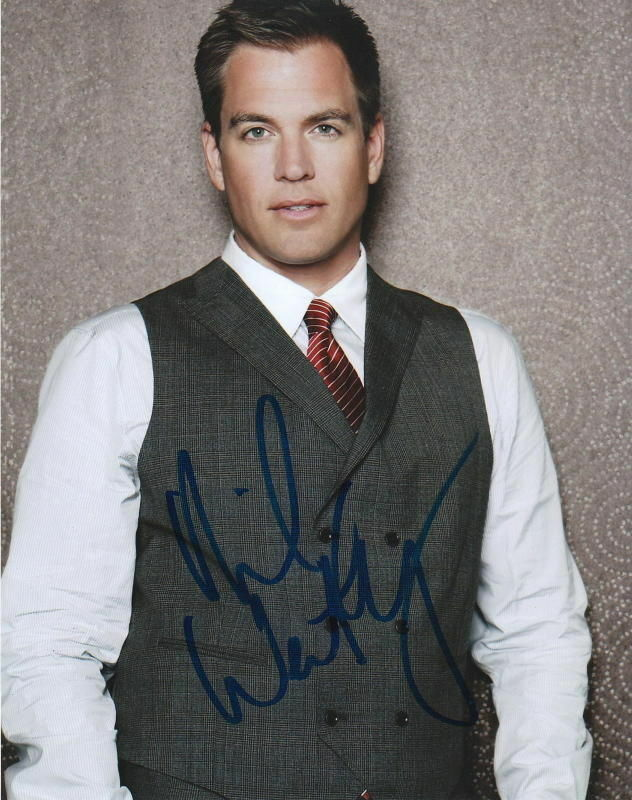 MICHAEL WEATHERLY.. Dashing and Debonair (NCIS) SIGNED