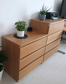 Set, ikea malm chest of drawers