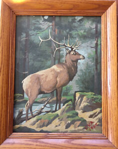 1960's PAINT BY NUMBERS DEER