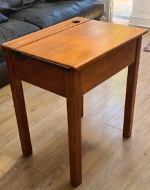 Vintage Retro Wooden Childrens School Desk and Chair