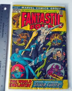 MARVEL FANTASTIC FOUR #123 June 1972 Comic Silver Surfer Nixon