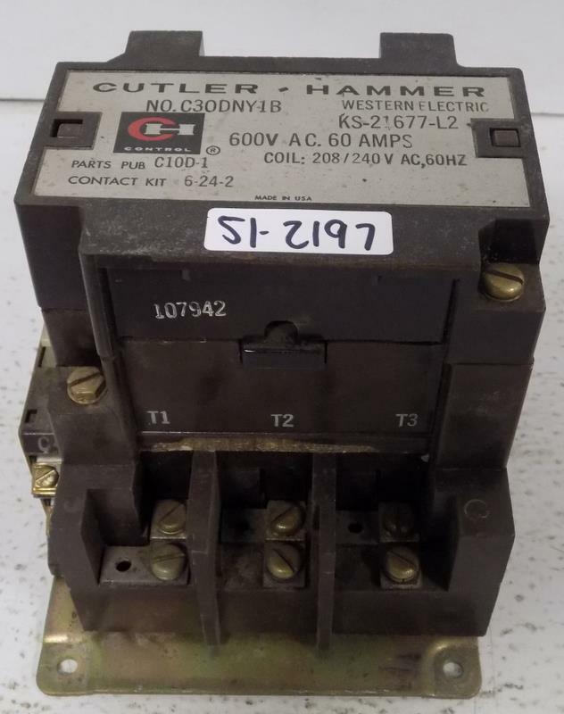 CUTLER-HAMMER MOTOR STARTER C30DNY-1B KS-21677-L2
