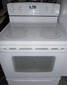 Kenmore White Glass Stove in Good Condition
