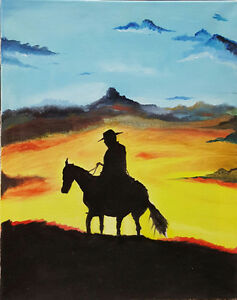 Oil painting - Cowboy