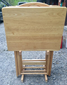 Wooden tray tables
