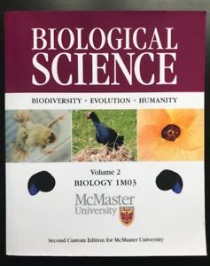 Biology 1M03, McMaster Custom 2nd, Biological Science Freeman