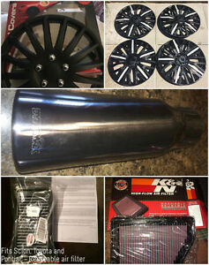 New Automotive Items - filters, exhaust tip, hubcaps