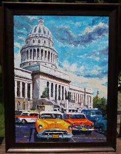 Old Havana by listed Cuban artist Eduardo Leyva Cabrero