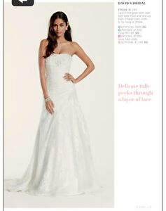 Lace A-line ivory gown- davids bridal $550 OBO