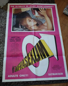 LOT OF  6 VINTAGE MOVIE POSTERS 1960'S 1970'S 1980'S