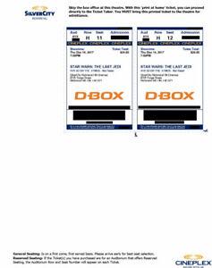 Star Wars TLJ Premier, Amazing Center seats! IMAX DBox