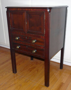 Georgian Period Antique Mahogany 2 Drawer Cabinet