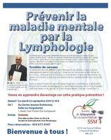 Conférence :Prévenir la maladie mentale par la Lymphologie