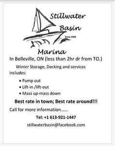 BOAT WINTER STORAGE AND SUMMER DOCKING AND SERVICES