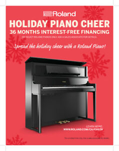 36 Months 0% Financing on select Roland Pianos!