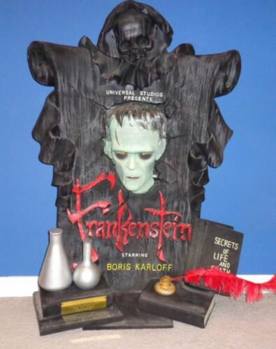 FRANKENSTEIN BORIS KARLOFF Timeless ILLUSIVE ORIGINALS wall hanging bust statue